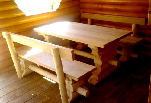 Стол и скамейки для беседки