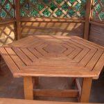 Стол в беседку в виде шестиугольника