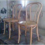 Светлый вариант окрашивания венских стульев