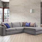 Угловой диван для гостиной в стиле лофт