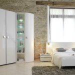 Угловой шкаф для спальни в стиле лофт