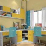 Угловой стол с двумя рабочими столами