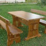 Уличная деревянная мебель своими руками