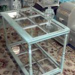 Задекорированный стеклянный стол своими руками