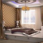 Огромная кровать-подиум в спальне