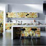 Абстракции в интерьере кухни