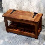 Банкетка из массива дерева