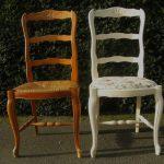 Белый стул с мягким цветочным сидением