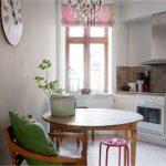 Безопасный круглый стол для кухни неправильной формы