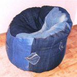 Чехол для кресла-мешка из джинсов