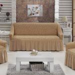 Чехол на диван и кресла в одной цветовой гамме