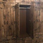 Деревянный шкаф в стиле лофт