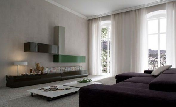 Для стиля минимализм используются большие помещения