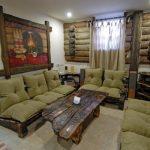 Комплект мебели из дерева для дачного домика