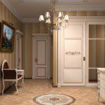 Красивая белая мебель для коридора