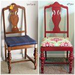 Красивый бордовой стул из классического старого