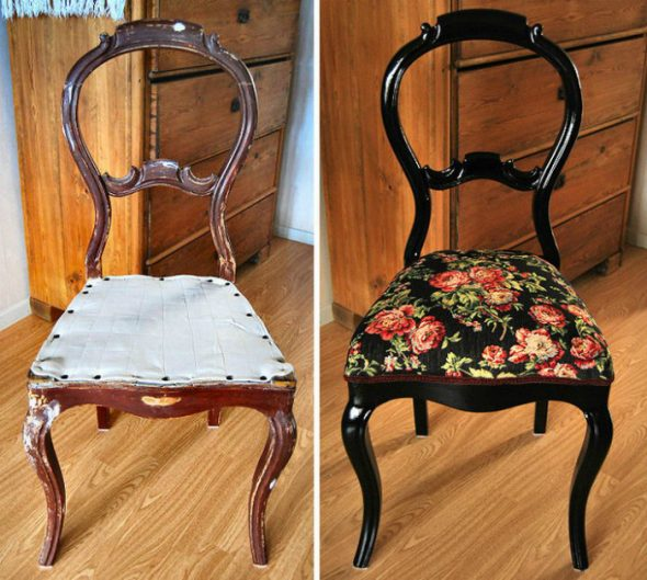 Красивый изогнутый стул
