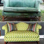 Красивый старинный диван до и после замены обивки