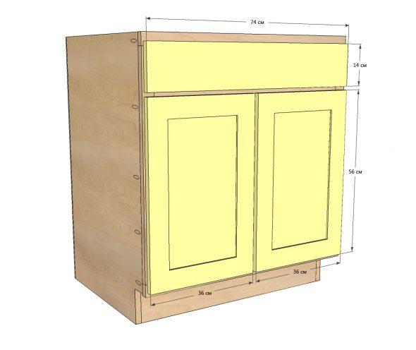 Крепление дверец шкафа