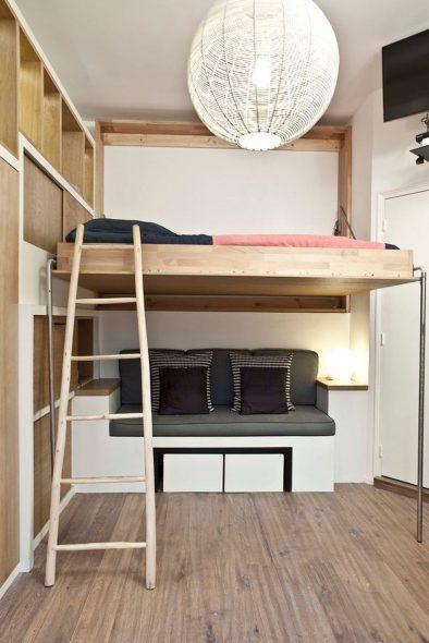 Кровать-чердак со спальным местом
