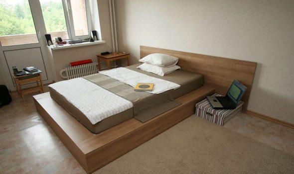 Кровать-подиум из МДФ