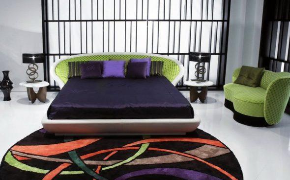 Кровать-подиум с мягкой спинкой