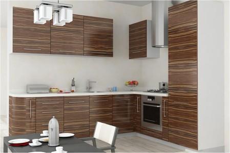 Кухня с фасадами из МДФ,