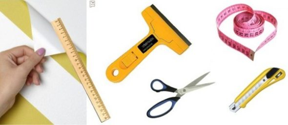 Инструменты для наклеивания пленки
