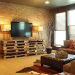 Мебель из паллет для гостиной в стиле лофт