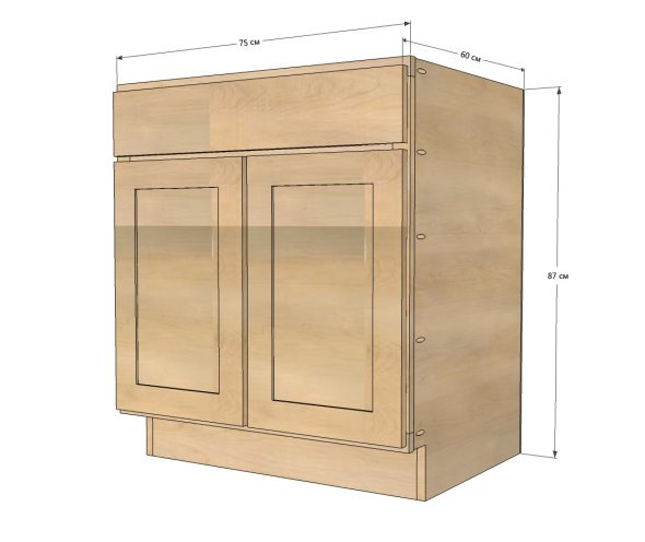Модель кухонного шкафа