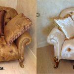 Необыкновенный стильный диванчик до и после обивки