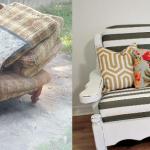 Оригинальный диван до и после реконструкции