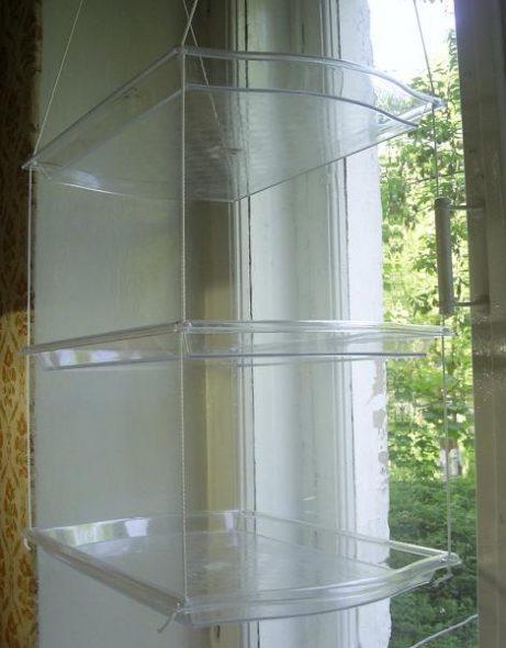 Пластиковые подвесные полки