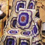 Плед с подушкой для кресла в цветочном оформлении