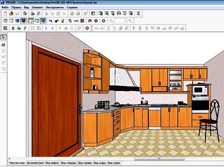 Пример разработки кухни