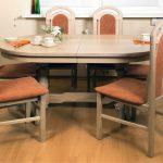 Раскладной овальный стол для обеденной зоны