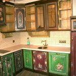 Расписная кухонная мебель своими руками