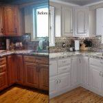 Реставрация кухонного гарнитура до и после