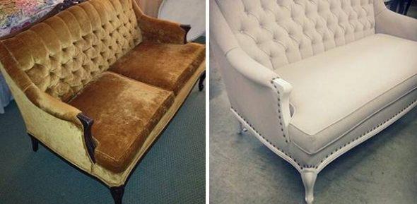 Реставрация небольшого диванчика