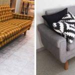 Реставрация старого дивана на современный лад