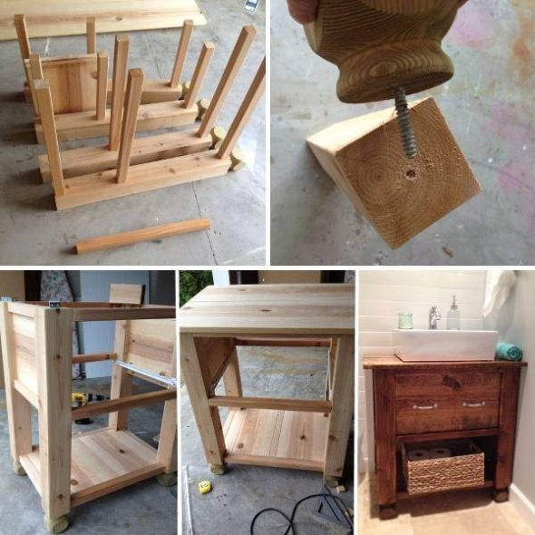 Самодельный вариант стола-тумбы