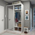 Шкафчик для коридора белого цвета