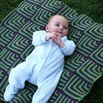 Сине-зеленое покрывало для вашего малыша