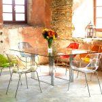 """Стол и стулья """"Невидимки"""" в стиле лофт"""