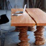 Стол из дерева в стиле лофт