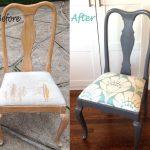 Стул со спинкой и мягким сиденьем до и после обновления