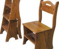 Деревянный стул -стремянка