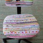 Текстильный вариант компьютерного стула