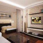 Уютное обустройство спальни, совмещенной с гостиной