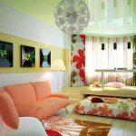 Выездная кровать-подиум для гостиной